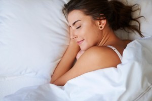 Lady Sleeping Comfortably Without Pain