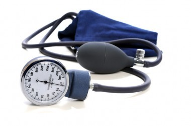 Blood Pressure devise, Sphygmomanometer. over white background