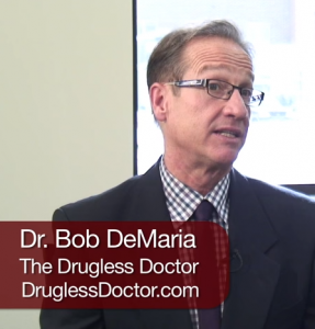 D. Bob DeMaria the Drugless Doctor doing in an interview on sleep problems.
