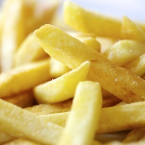 Close up of french fries a carbohydrate food.