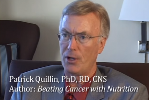 Screen shot of video interview on nutrition and cancer with Dr. Jack Quillin