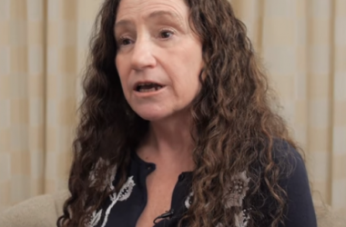 Screen shot from video of Donna Wild discussing the importance of fat in our diet.