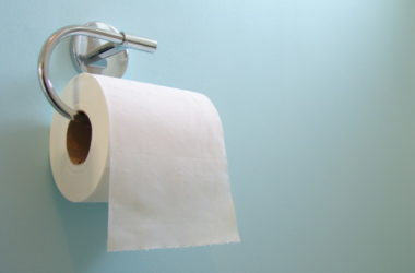 Toilet paper roll to illustrate constipation or diarrhea