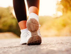 Getting exercise with a walk workout