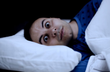 Man with sleep problems has insomnia
