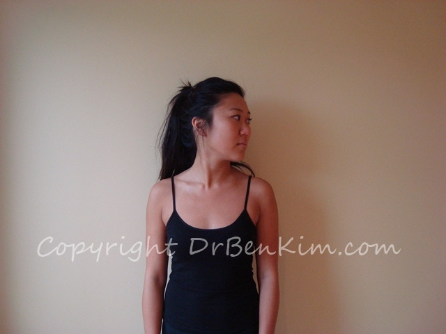 Exercise to relieve neck pain and stiffness rotation to left