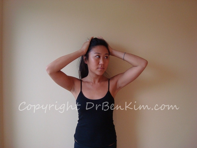 Exercise to strengthen Neck Rotation to Left