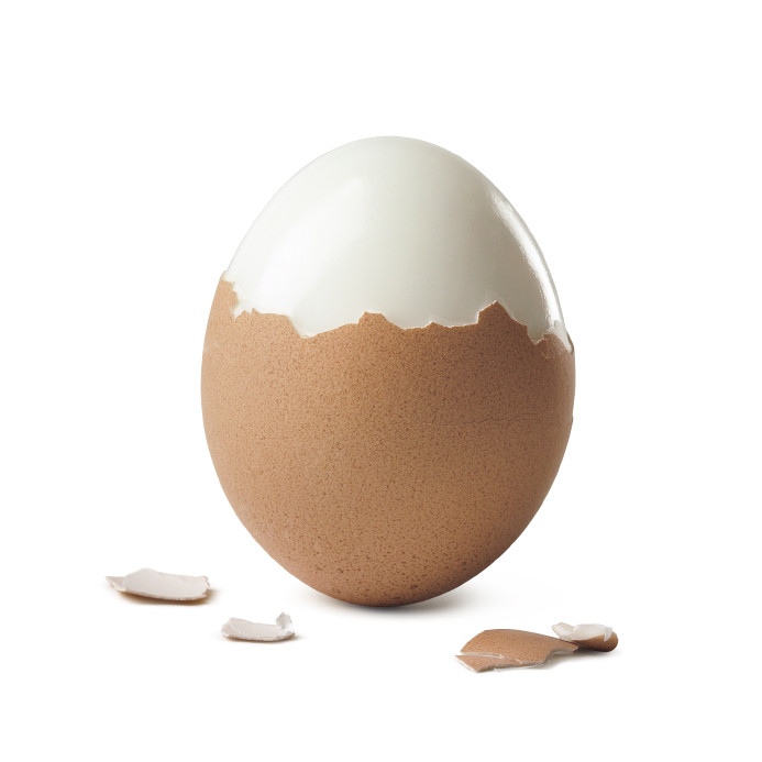 Hard boiled egg partially peeled is good for weight loss