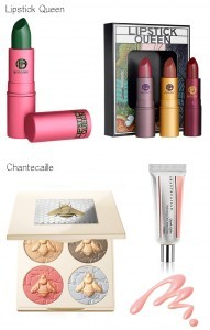 Lipstick Queen and Chantecaille natural beauty products