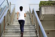Interval training exercise running stairs