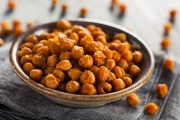 Healthy roasted garbanzo beans or chickpeas