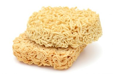 A stack of instant noodles which top the list of foods you should never eat heart disease