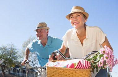 Happy active seniors ride bikes because they are beating oxidative stress