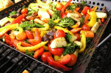 Grilled veggies with good fats for tastier vegetables