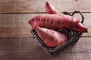 Sweet potatoes in a basket to illustrate diabetes superfoods