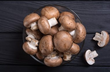 Bowl of fresh mushrooms to protect against prostate cancer