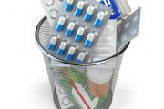 Prescription pills in trash can because patient learned how to cure diabetes