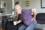 Senior man with sciatica back pain