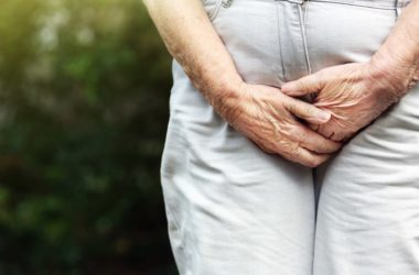 Senior woman has bladder urgency incontinence issues