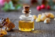 A bottle of arthritis pain relieving frankincense or boswellia extract and resin