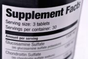 Glucosamine and chondroitin supplement label