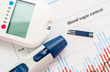 Blood sugar meter to illustrate the importance of control in heading off dementia