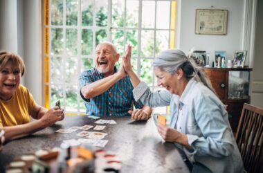 Seniors fight isolation and loneliness by playing cards and socializing