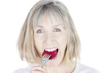 Woman at risk for heart disease eats beets to lower risk