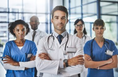 Doctors arms crossed represent doctors who deny older heart failure patients treatments based on age